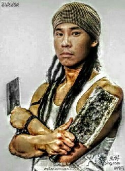jun trinh 4 corners with knives