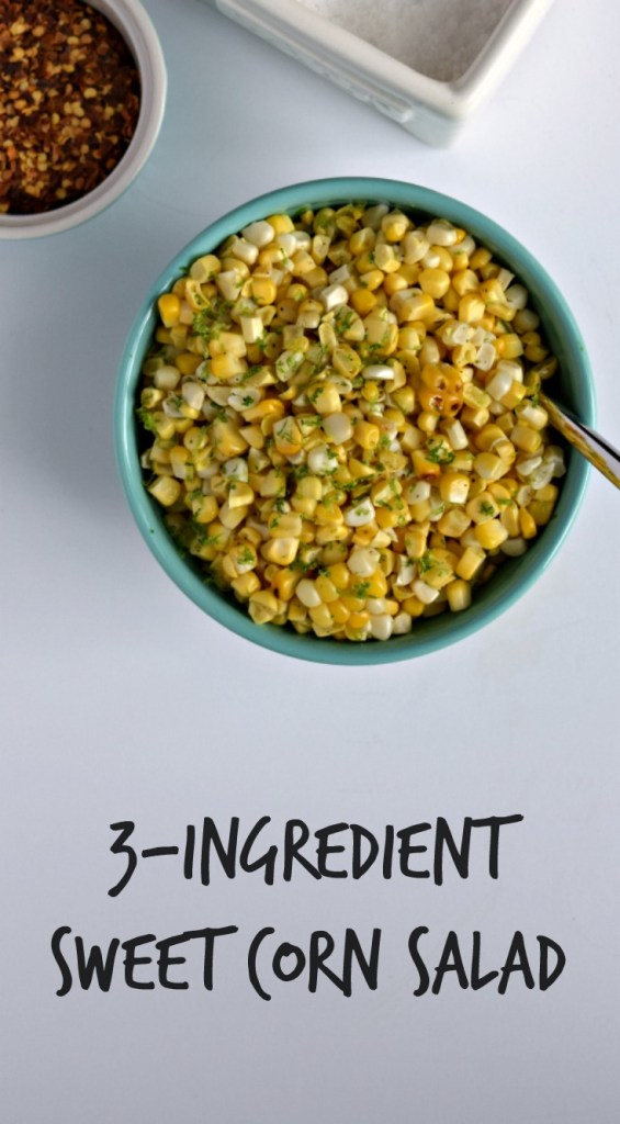 Corn Salad Recipe (Vegan) | This easy corn salad recipe has just three simple ingredients (not including s&p!). It's fresh and sweet and smoky and delicious. And you should definitely try it. It's a perfect summer side dish to build upon!
