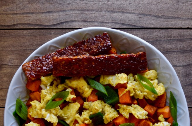 Tempeh Bacon - This tasty tempeh bacon is a grain-free, gluten-free and lectin-free option developed around my favorite tempeh bacon recipe. There's no soy sauce or tamari in this, which is how it's considered lectin-free.