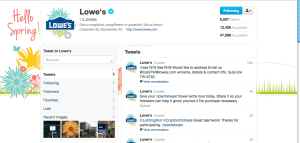 Lowes Twitter Profile