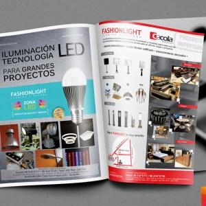 Diseño y fotografía Anuncio Fashionlight Guía de Materiales