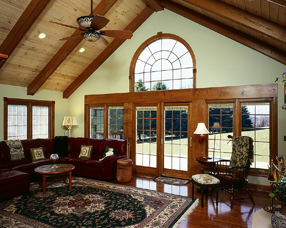 Rustic Family Room Rustic Lodge Family Room Addition Bel Air Construction