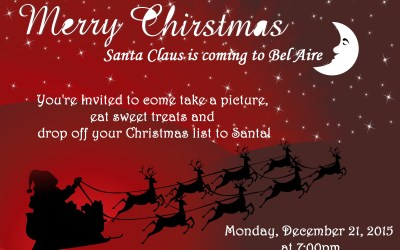 Santa Claus is Coming to Bel Aire Senior Living!