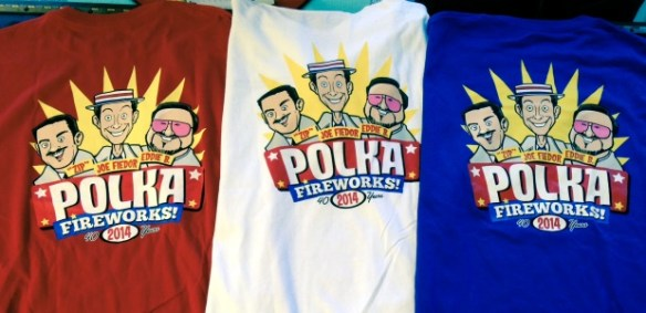 polka fireworks 40th anniv shirts