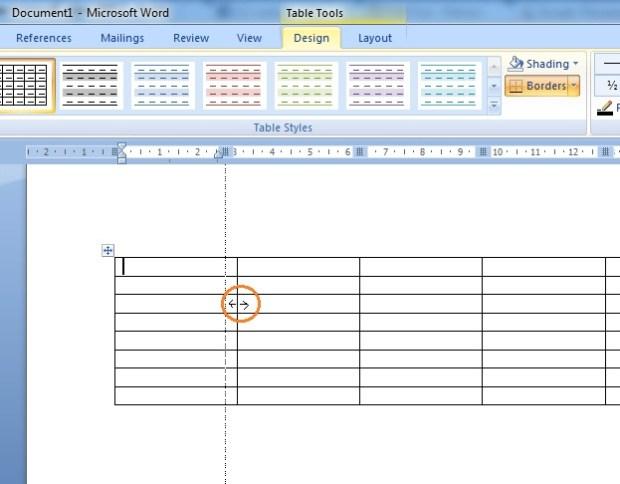 Cara Membuat Tabel pada Microsoft Word 2007
