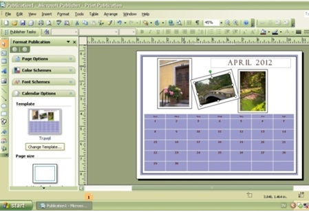 Cara Membuat Kalender Menggunakan Microsoft Office Publisher 2007