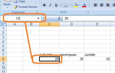 definisi pengertian cell excel