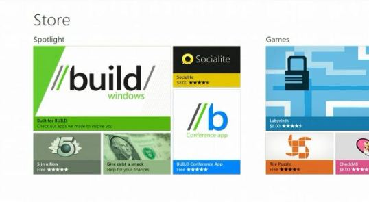 tampilan windows store windows 8