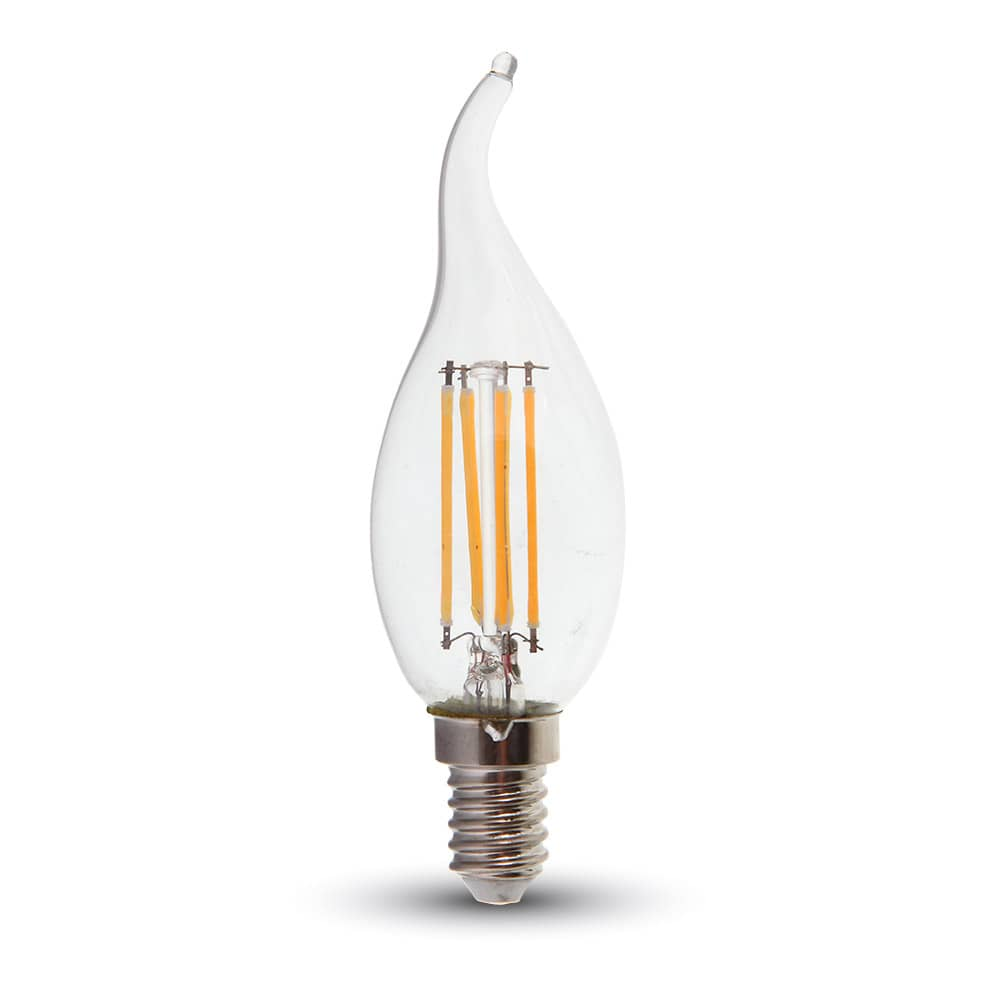 Led Dimmbar E14 Led Filament E14 Kerze 4w 320lm Warmweiss Dimmbar Windstoß