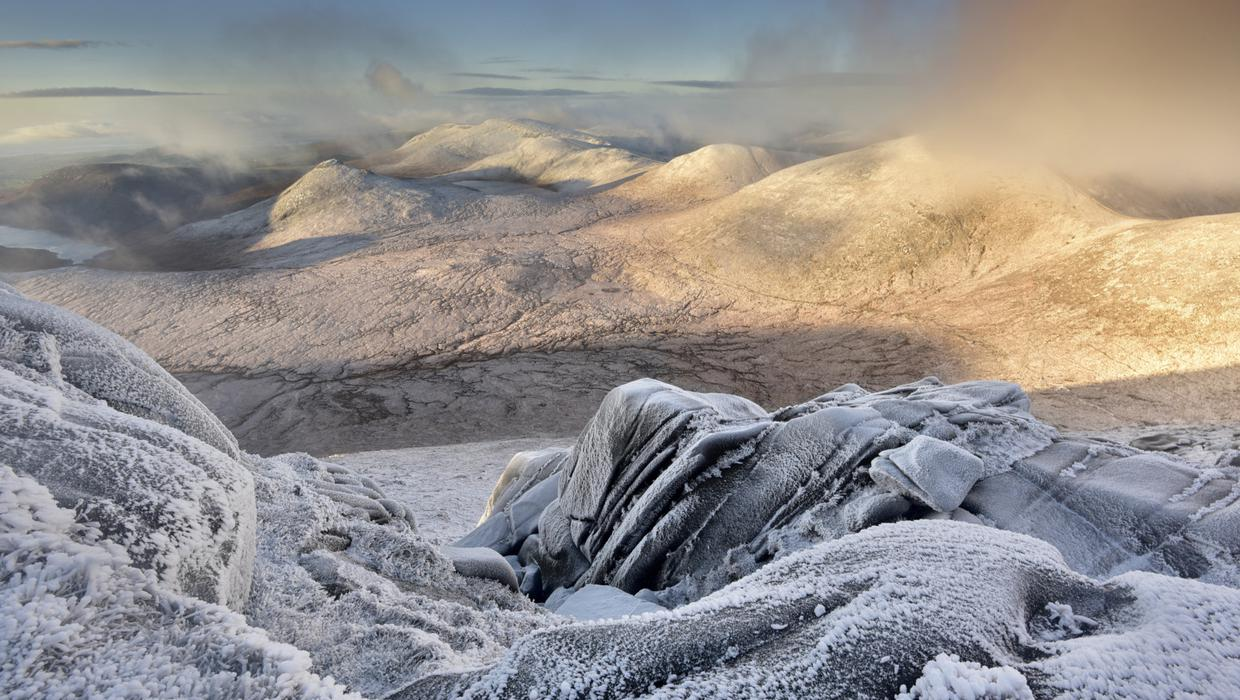 Winter Snow Blankets Mourne Landscape That Inspired Narnia As Magical Cs Lewis Square Opens In Belfast Belfasttelegraph Co Uk