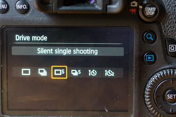 Drive mode kamera silent quiet
