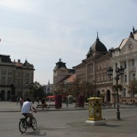 Central square in Novi Sad