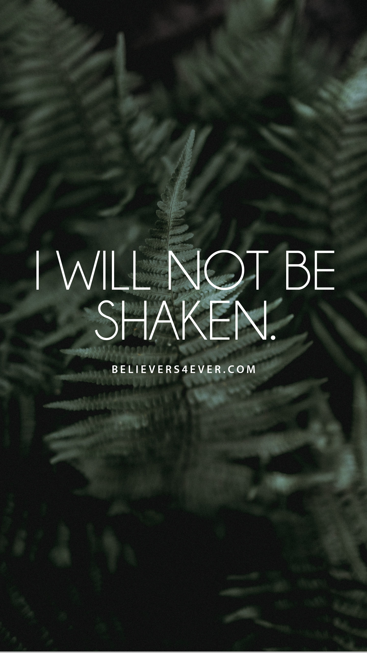 Samsung Galaxy S3 Wallpaper Quotes I Will Not Be Shaken Believers4ever Com