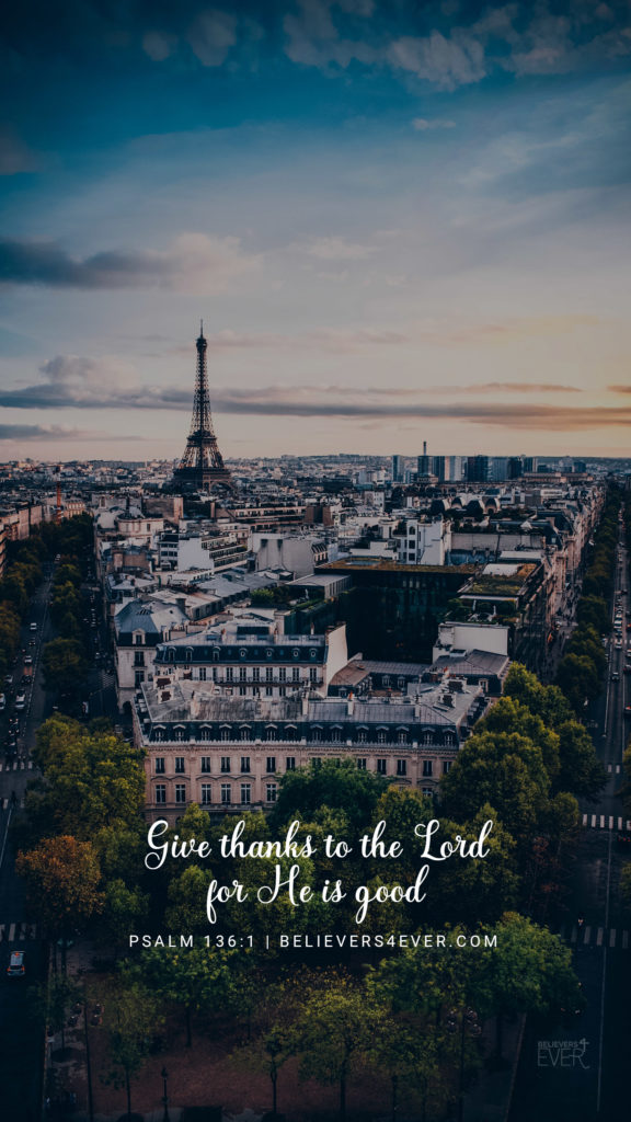 Good Quotes Wallpaper For Mobile Phones Give Thanks To The Lord Believers4ever Com