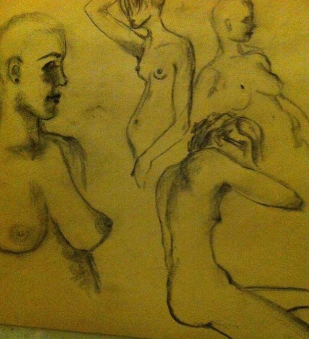 Drawing and photo by Deseré Pressey. The two central figures are me!