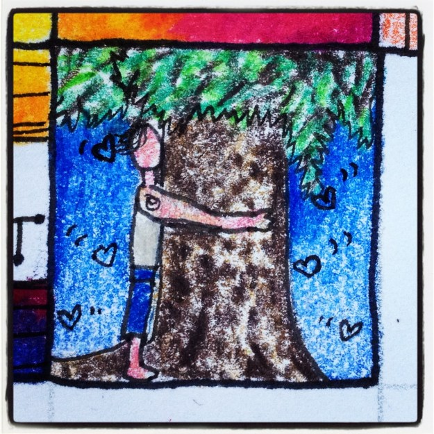 Tree hugger. From my project #selflove365