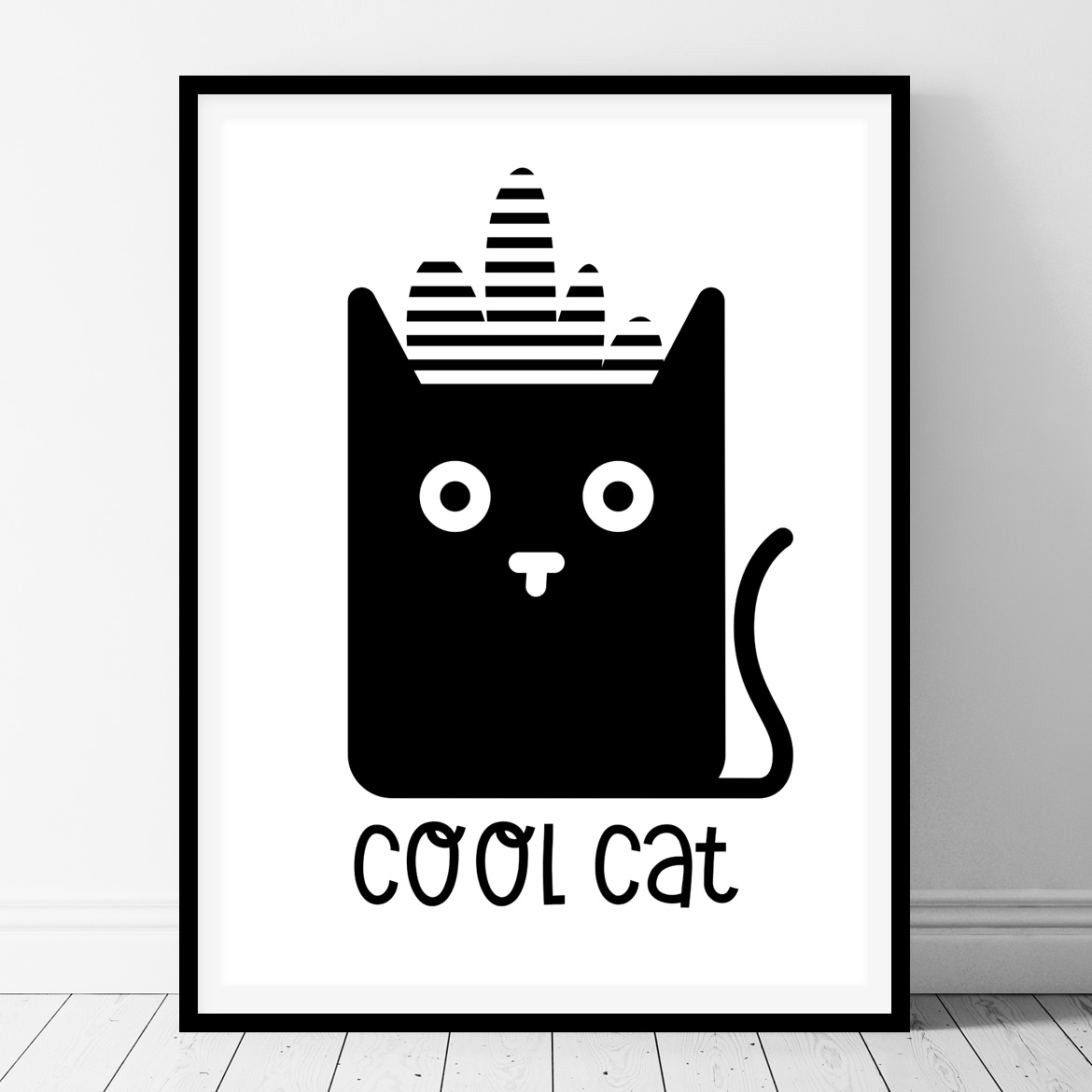 Cool Black And White Posters Cool Cat Printable Kids Wall Art Belivindesign