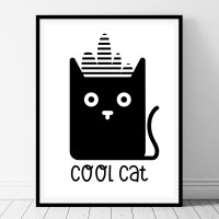 Cool Cat- Printable Kids Wall Art - BelivinDesign
