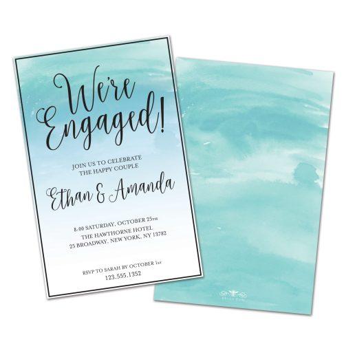 Medium Crop Of Engagement Party Invitations