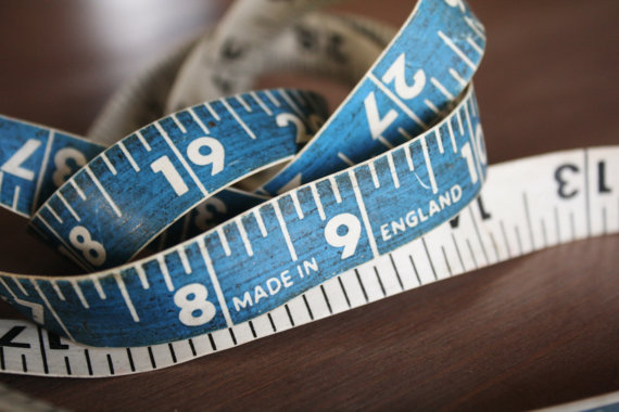 Blue Tape Measure from Ado Annie's Etsy Shop