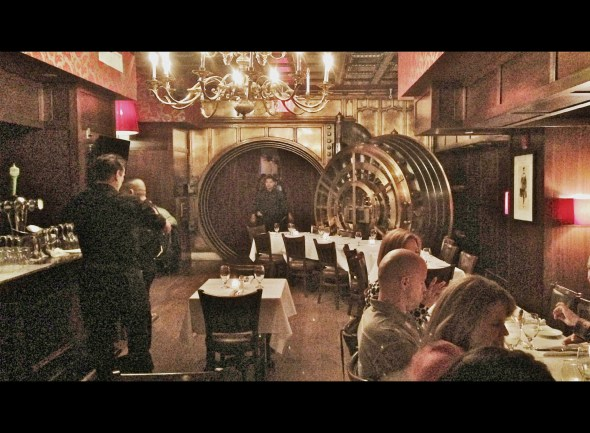 Trinity Place.  An old bank turned restaurant--we ate in the vault!