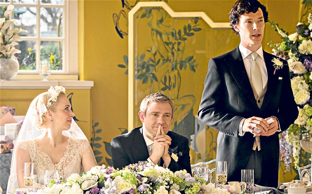John's wedding.  Sherlock via BBC