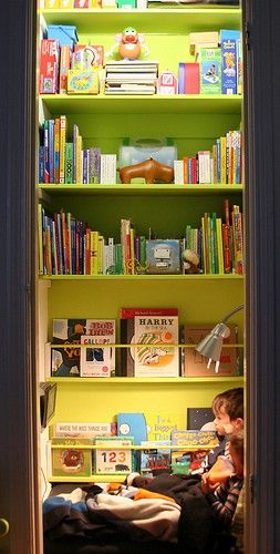Babble.com (Closet turned into a kid's reading nook.)