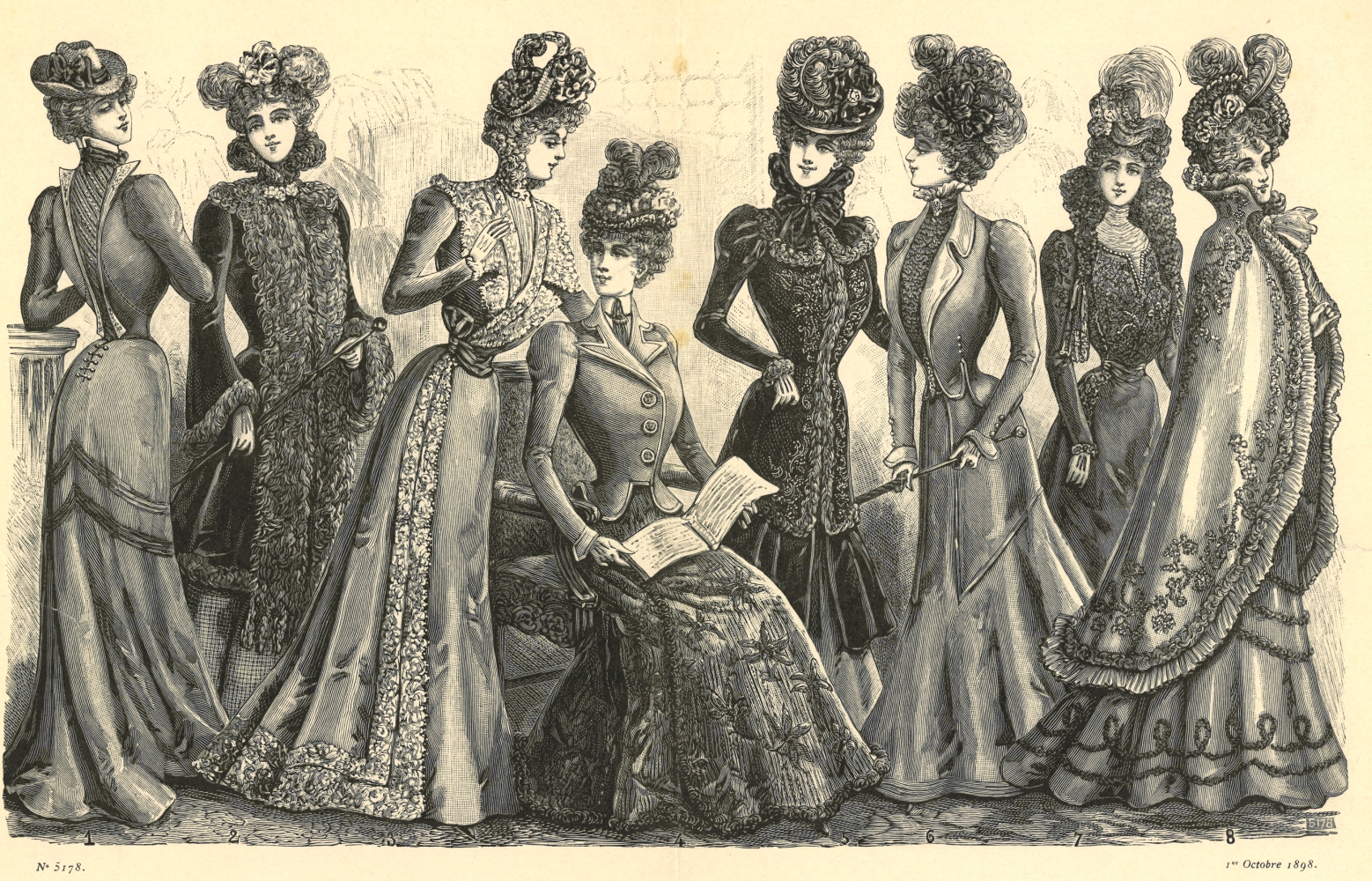 La Bella Moda Mode Octobre 1898 Belle Époque Pinterest Belle
