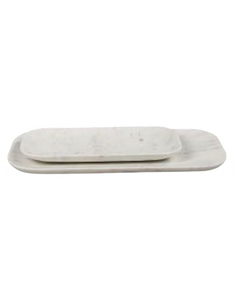 Badkamer Tray Large Tray In White Marble