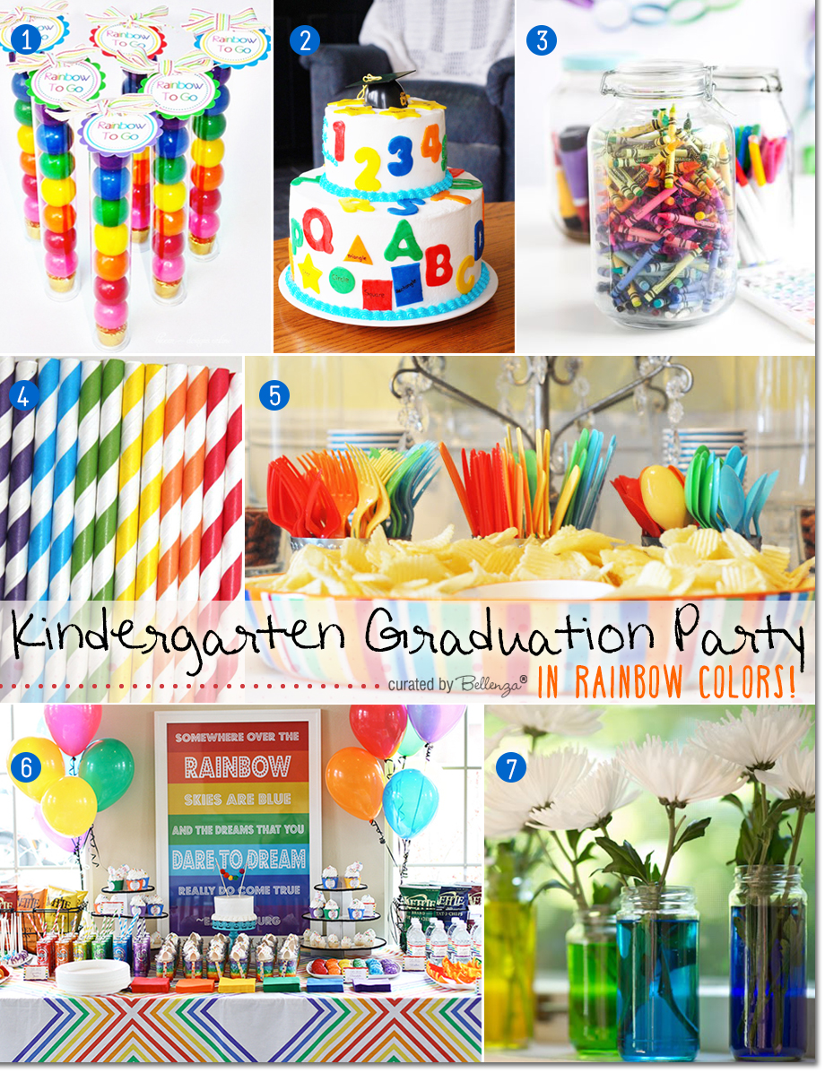 Kinderessen Party Fun Ideas For A Kindergarten Graduation Party In Rainbow Colors