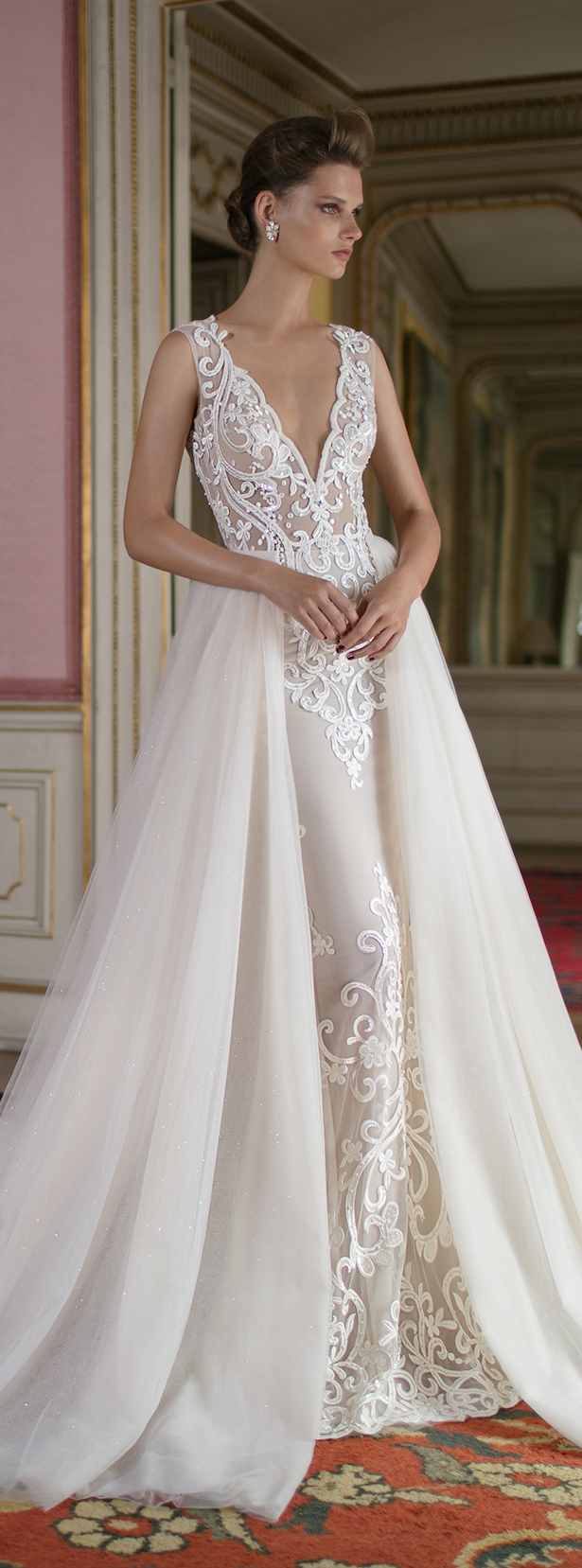 bridal trends wedding dresses with detachable skirts detachable wedding dresses Wedding Dress by Berta Spring Bridal Collection
