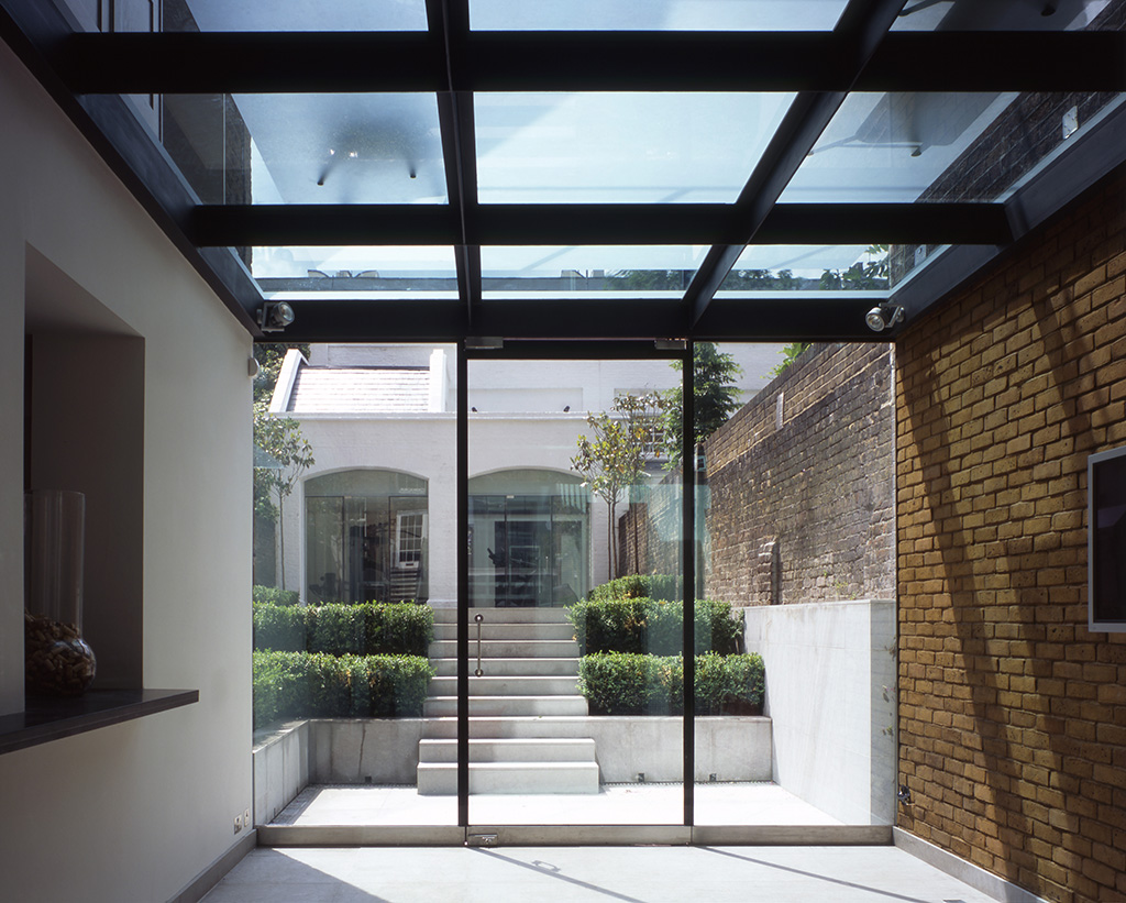 Glass Roof Extension Belsize Architects Double Storey Extension