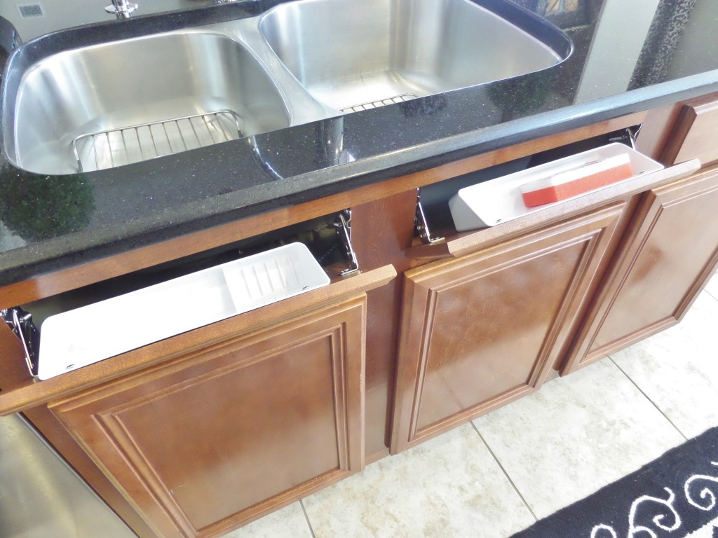 Kitchen Sink Cabinet Tray How To Install A Sink Front Tip Out Tray Be My Guest