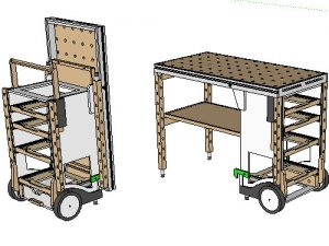 Mf Tc Multifunction Tool Cart Benchworks