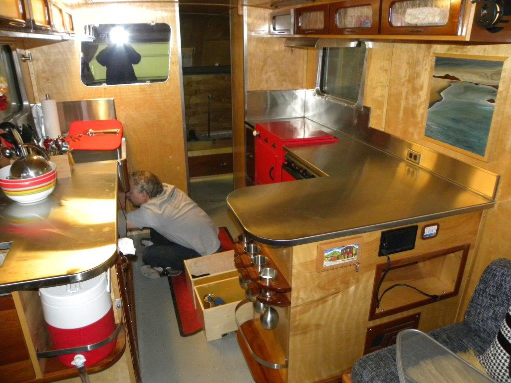 Installing Stainless Steel Countertops Stainless Steel Countertops Installed In Vintage Trailers From