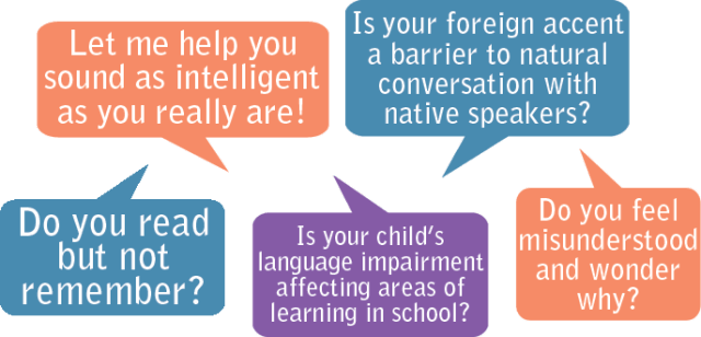 Do you read and not remember? Do you feel misunderstood and wonder why? Is your foreign accent a barrier to natural conversation with native speakers?