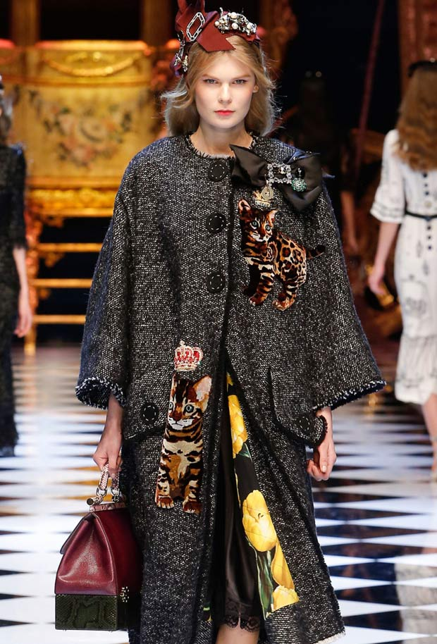Togo Sofa Bengal Cats On The Catwalk At Dolce & Gabbana's Fall Show