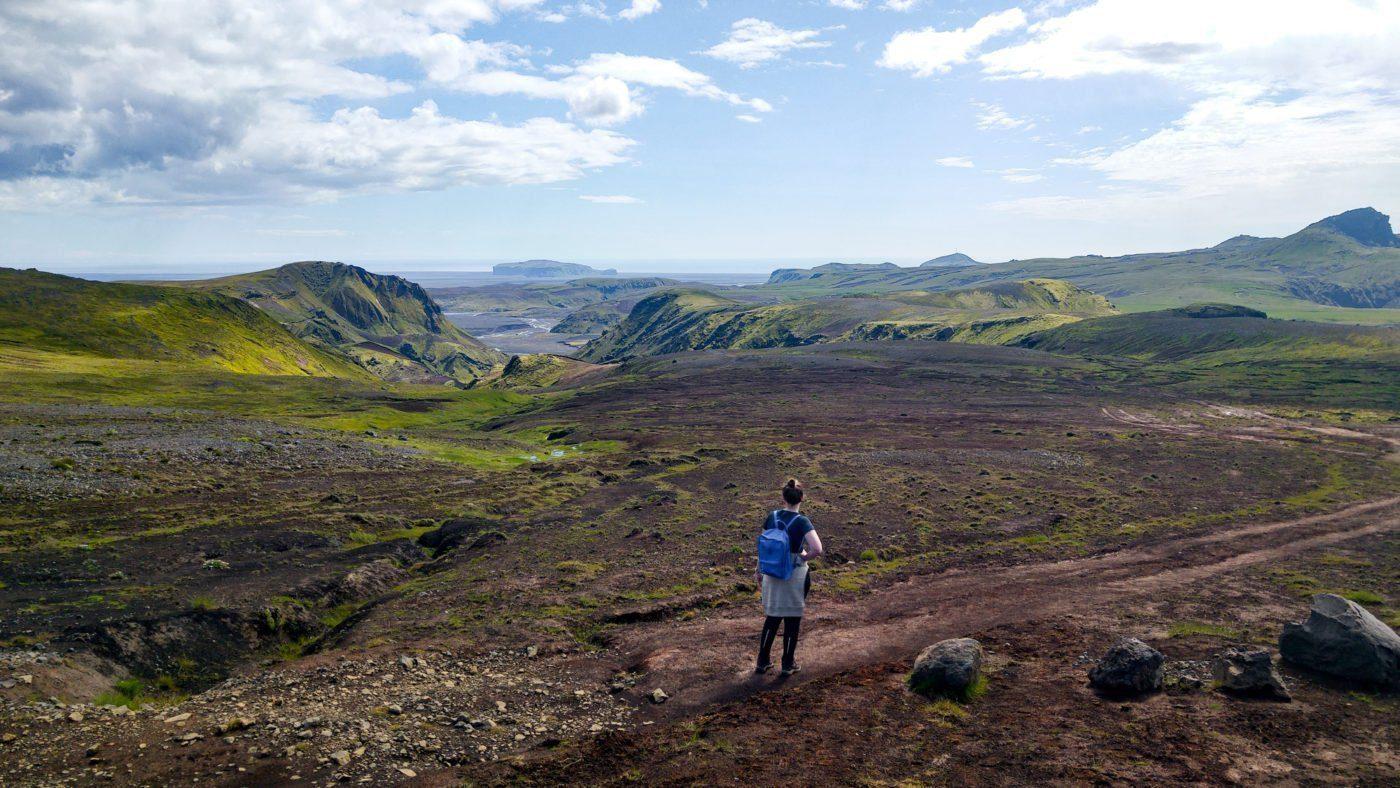 views along the Austurafrettur hike
