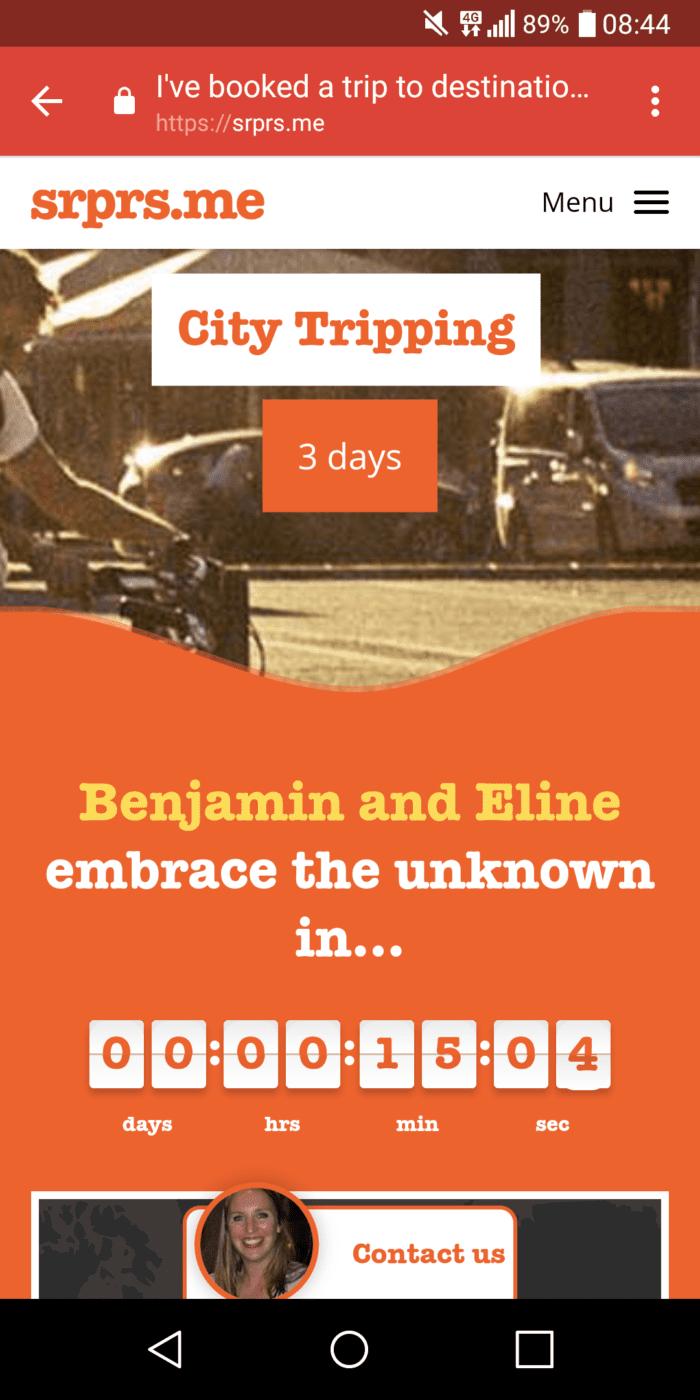 the countdown ticker