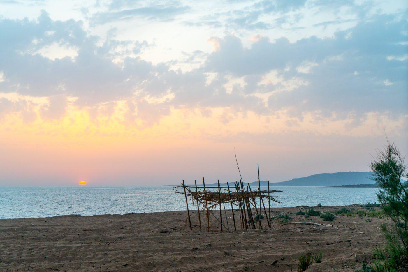 The beach at Costa Navarino