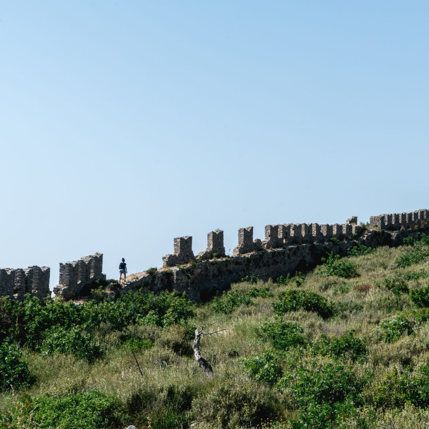 Walk on the ruins of the Old Navarino Castle