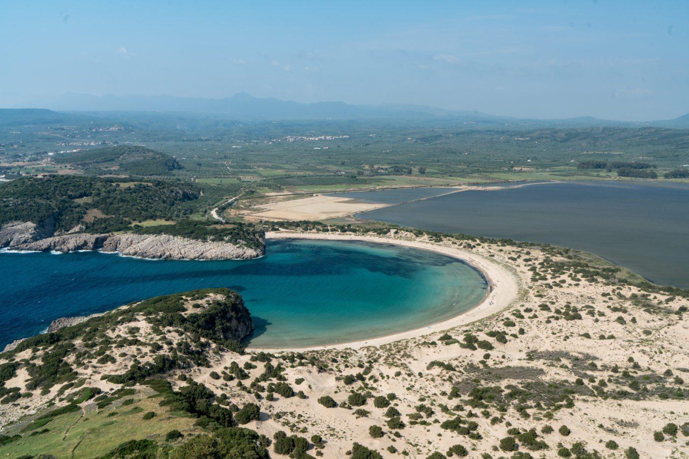 Voidikilia beach or Omega beach in the Greek Peloponnese