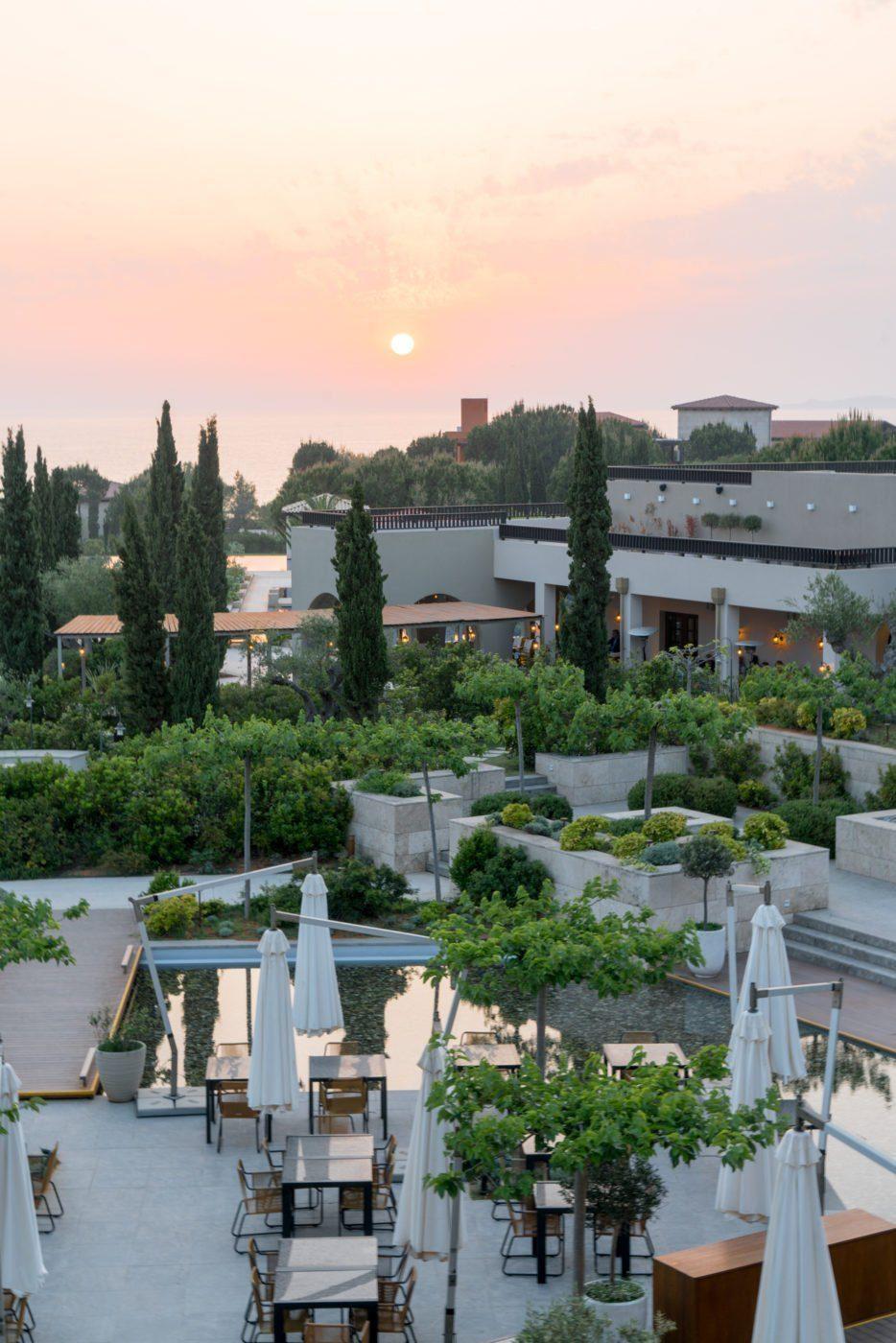 Sunset in Costa Navarino