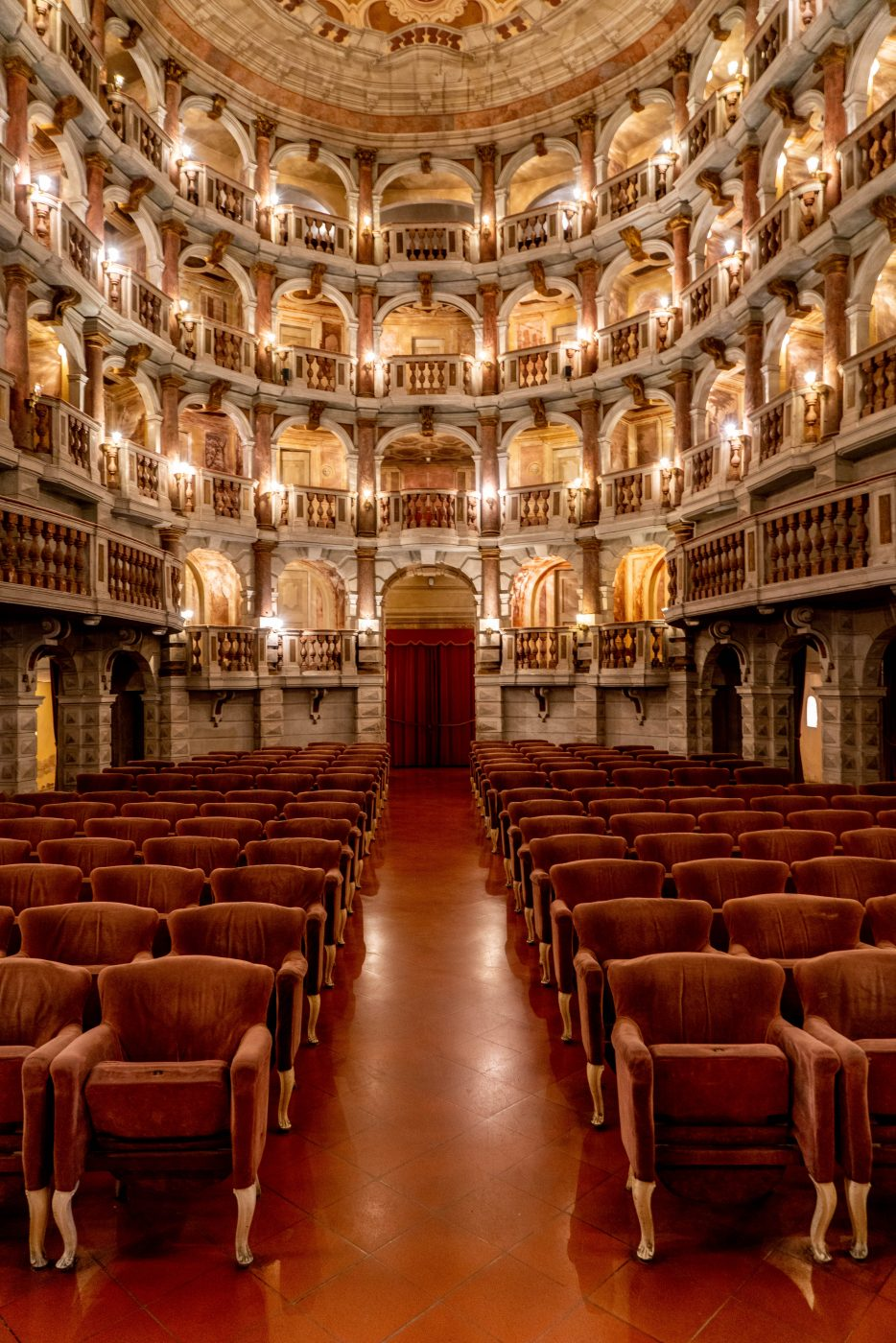 Bibiena Theatre in Mantova, Lombardy, Lombardia