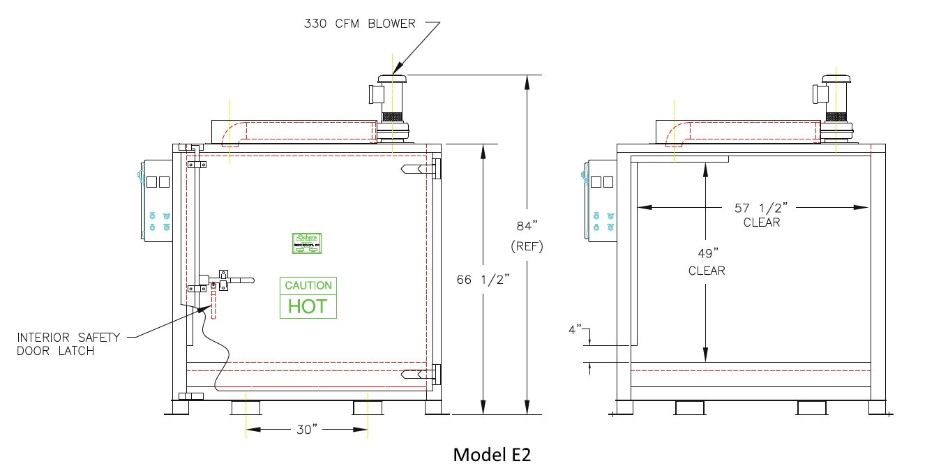 2??cad??? Model E2 Electric Drum Oven Cad Drawing Benko Products Inc 30