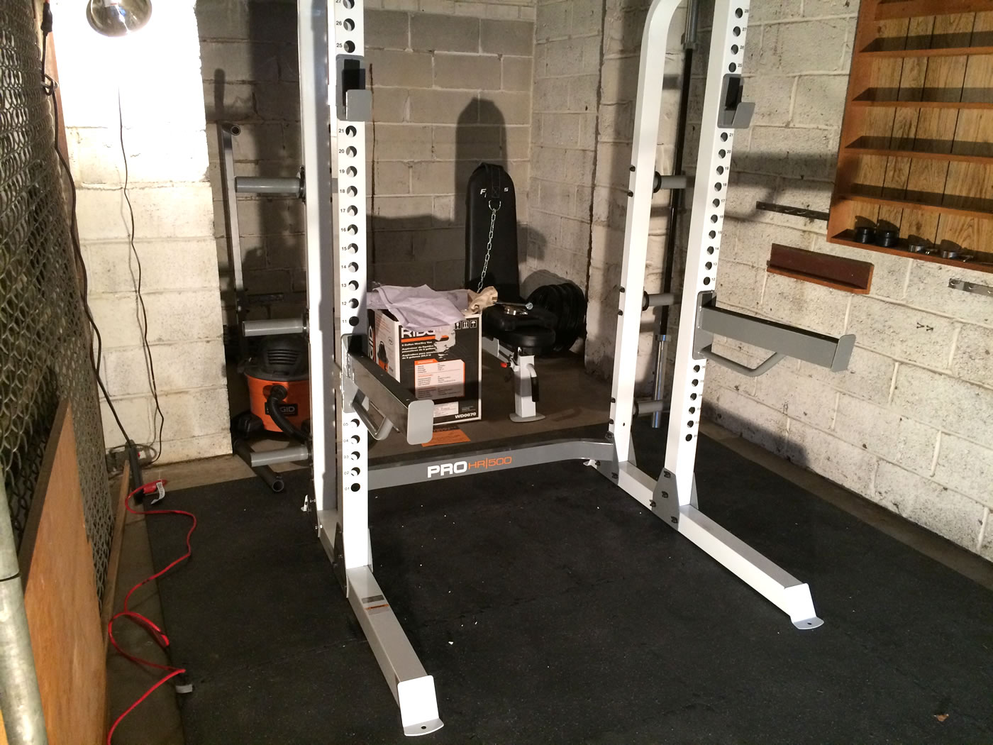 Garage Gym Half Rack Project Huge Building A Home Gym Squatting Benching And