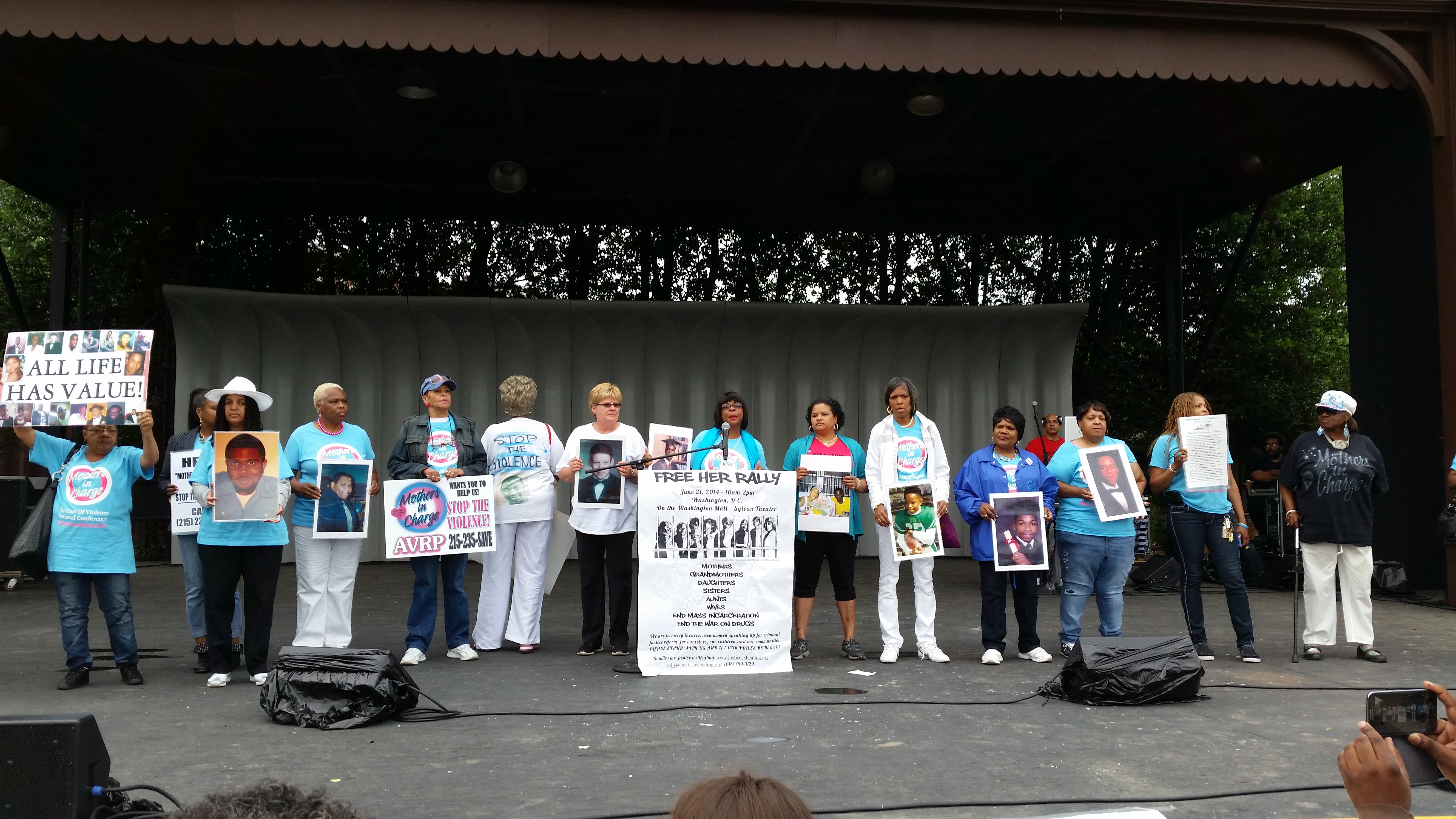 Participants in DCs Free Her Rally against mass incarceration (CREDIT: Original photo)