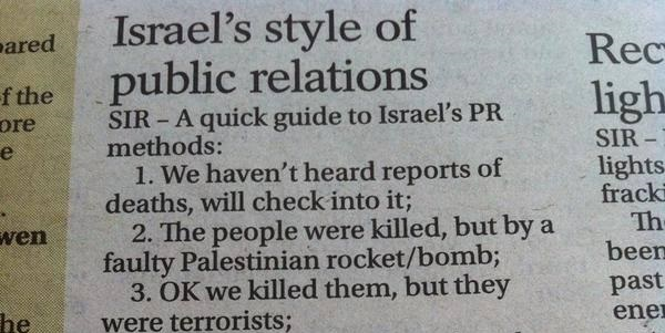 An Algorithm for Israel's Public Relations Strategy