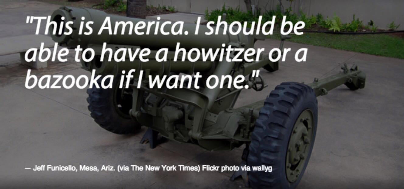 """US """"Freedom"""": Right-Wing Fanatics Must Own Bazookas; Gay Teachers Are Fired"""