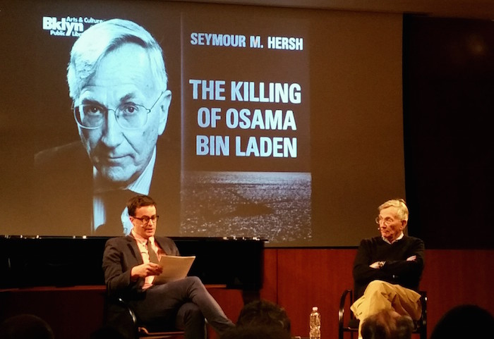 """Editors are horrible"": Seymour Hersh at Brooklyn central library"